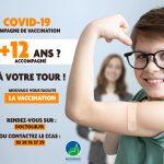 Vaccination pour les 12/18 ans